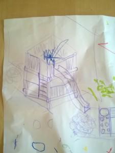 Skizze Kletterturm